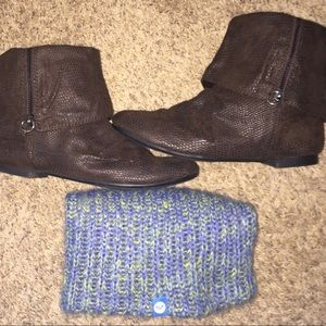 Roxy suede low-cut boots! Great Condition!
